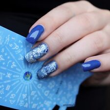 Nail Art Water Transfer Decals Stickers Zodiac Numbers Pattern Decoration