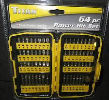Titan 64 Piece Power Bit Set  Chrome Vanadium Power Bits