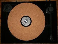 PREMIUM UPGRADE 3mm CORK AUDIO MAT DRASTICALLY IMPROVES RECORD PLAYER TURNTABLE
