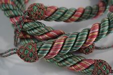 pr curtain tie backs designer cord rope tie backs pink green yellow 2 pcs