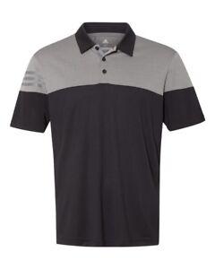 ADIDAS GOLF - 3-Stripes Polo, Men's Sizes S-3XL, Heather, Climalite Sport Shirts