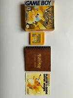 Nintendo Pokemon Yellow Version Game COMPLETE IN BOX Authentic Tested cib