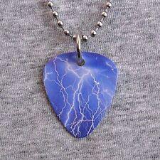 Metal Guitar Pick Necklace LIGHTNING storm bolt thunder severe weather pendant