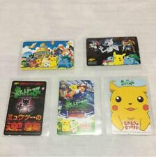 Pokemon Phone Card Pikachu/Mewtwo 5 Cards Set  Unused Vintage Very Rare Limited