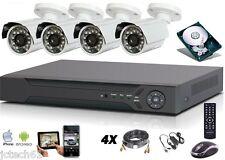 Kit vidéo surveillance HD 700 tvl, DVR IP 4voies 1To + 4 caméras étanches