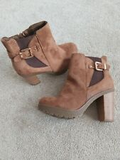 NEW LOOK Size 5 Brown High Heel Boots ONLY TRIED ON!