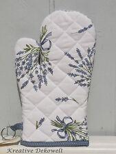 Clayre & Eef Back Ofenhandschuh Lavendel Bouquet Kariert 100% Baumwolle 16x30 cm
