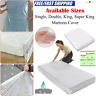 PLASTIC BED DUST MAT MATTRESS PROTECTOR FITTED SHEET COVER SINGLE,DOUBLE,KING UK
