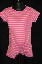 Baby Gap Girl's Newborn 6-12 Mos Short Sleeve Romper Pink White Orange Stripes