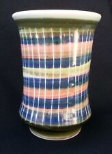 IDEN POTTERY, RYE, HAND PAINTED VASE 1959-1965 BLUE BASE MARK - MINT CONDITION