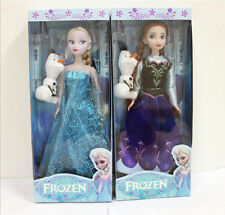 Hot 2pcs 30CM Frozen Elsa&Anna princess Doll Playset Figures Present Gift Doll