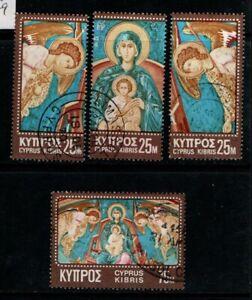 Cyprus 1970 Christmas SG354-57  Used