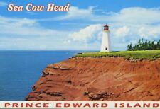 Lighthouse Sea Cow Head Prince Edward Island PEI Vintager Dexter Postcard D10a