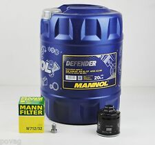 20 Liter Mannol 10W-40 Defender Motoröl mit MANN Ölfilter VW Golf 3 Polo 6N 86C