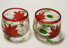 "Celebrations Poinsettia Votive Candle Holder  2 3/4"" x  3""# 1652"