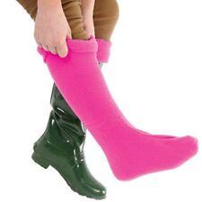 Ladies Wellington Socks in Pink size 26 cm Warm Fleece Liners Machine Washable