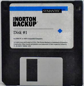 "The NORTON BACKUP : Symantec Corporation: 3.5"" disk + two books"