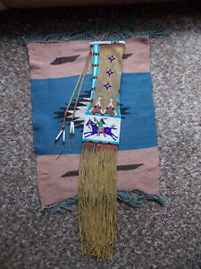 SIOUX BEADED PIPE BAG, Pictorial Tobacco Bag - Reproduction, Beadwork/Quillwork