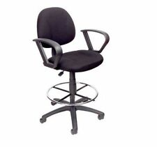 Drafting Chair With Wheels Adjustable Stool with Arms Ergonomic for Office Desk
