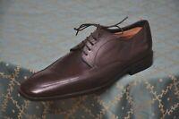 Hugo Boss mens Dark Brown Calf Derby formal shoes size 8,UK 8F/US 8.5D/EU 42