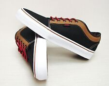 Vans Chukka Low Leather Black Brown VN-0U0GB4F Men's Size 7