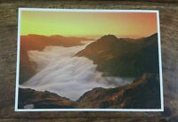 DAVE NEWBOULD WELSH PICTURE POSTCARD P234 DAYBREAK OVER TRYFAN AND THE GLYDERS