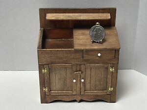 Vintage Artisan NAZAK '88 FINE Dry Sink Copper Basin Dollhouse Miniature 1:12