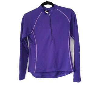 Canari Womens Jersey Long Sleeve Cycling Jersey Purple Back Pocket Small