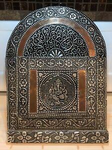 Ganesha Elephant Embossed Aluminum Copper Letter Key Holder Organizer/ India Art