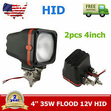 "2X 4""Inch 35W Xenon HID Off Road ATV/Tractor/Boat Flood Square Lights 6000K 12V"