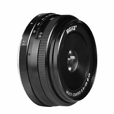 Meike MK-28mm F2.8 Multi Coated Fixed Manual Focus Lens for Canon EOS M1/M2/M3