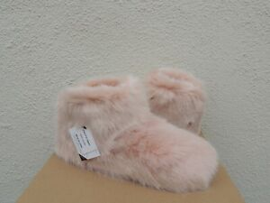 UGG QUARTZ PINK AMARY FAUX FUR/ WOOL SLIPPER BOOTS, US 7/ EUR 38 ~ NEW IN BOX