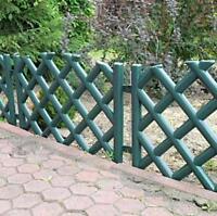 Plastic Garden Fence Panels Boarder Lawn Palisade Edge Patio Fencing GREEN PJPOB