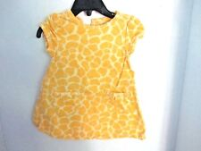 GYMBOREE~Yellow GIRAFFE PATTERN Corduroy JUMPER DRESS~Infant Girls 6-12 months
