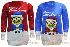 L96 Womens Ladies Novelty Rudolph Olaf Frozen Knitted Christmas Sweater Jumper
