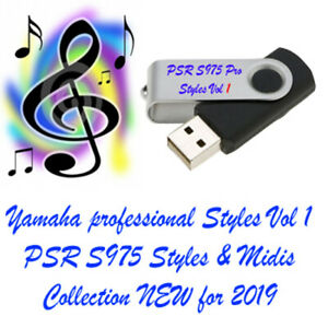 Yamaha PSR S975 Styles and midis new for 2019