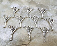10 Pewter CHEERLEADER Charms -5464