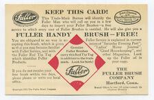 Fuller Brush ad card - 1921