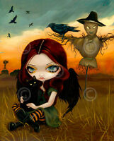 FAIRY ART PRINT - The Scarecrow by Jasmine Becket-Griffith 14x11 Gothic Poster