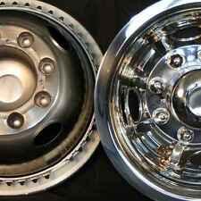 "Dodge 16"" 8 lug motorhome hubcaps rv simulators rear snap on stainless steel"