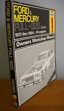 1975-1984 Haynes FORD & MERCURY Owners Workshop Manual