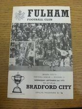 02/09/1970 Fulham v Bradford City  (faint marks). Item appears to be in good con