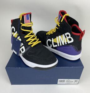 Polo Ralph Lauren Men's Black Downhill Skier Alpine 200 Hikers Shoes Size 8 D