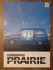 NISSAN PRAIRIE orig 1983 UK Mkt Sales Brochure