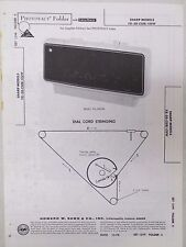 Vintage Sams Photofact Folder Radio Parts Manual Sharp FX-50-CUB/-CUW