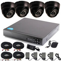 CCTV 4CH HDMI DVR HD 700TVL 24IR Leds Home Surveillance Security Cameras System