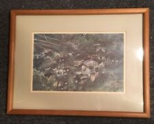 Andrew Wyeth Print Four Seasons Collection Quaker Ladies Matted and Framed