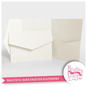 10 Pocketfold Wedding Invite Wallet Invitations RSVP DIY Stationery for A6 Cards