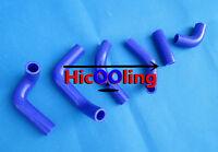 FOR HUSQVARNA TE400 TE450 TE510 2002-2008 SILICONE RADIATOR HOSE KIT BLUE