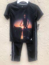*New* Jordan 2Pc Boy's T-Shirt/Pants Set. Black/White Size 6 8S3260-023 With Tag